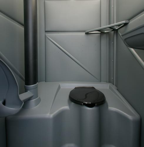 Deluxe Portable Toilet Interior View