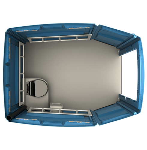 ADA Portable Toilet Top View