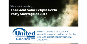 The Great American Eclipse Challenged the Portable Sanitation Industry – But Not Us and Here's Why!