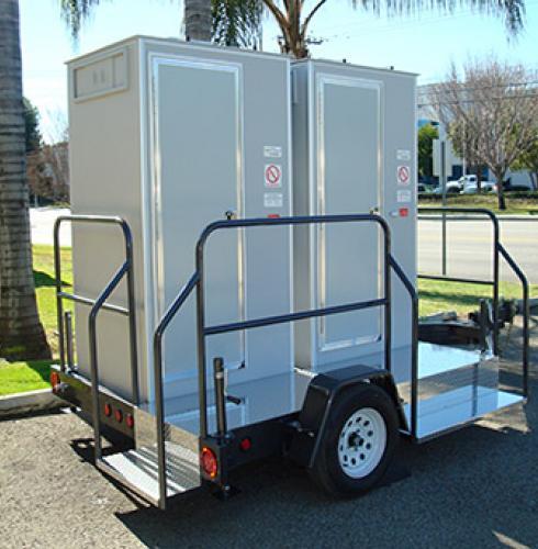 VIP Toilet Trailers on Wheels
