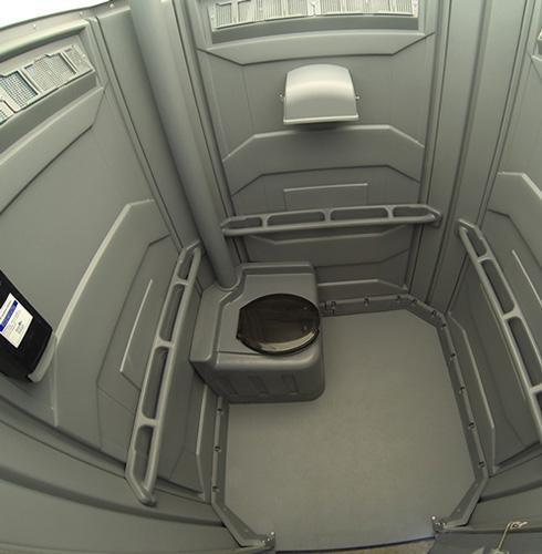Handicap Porta Potty Interior View