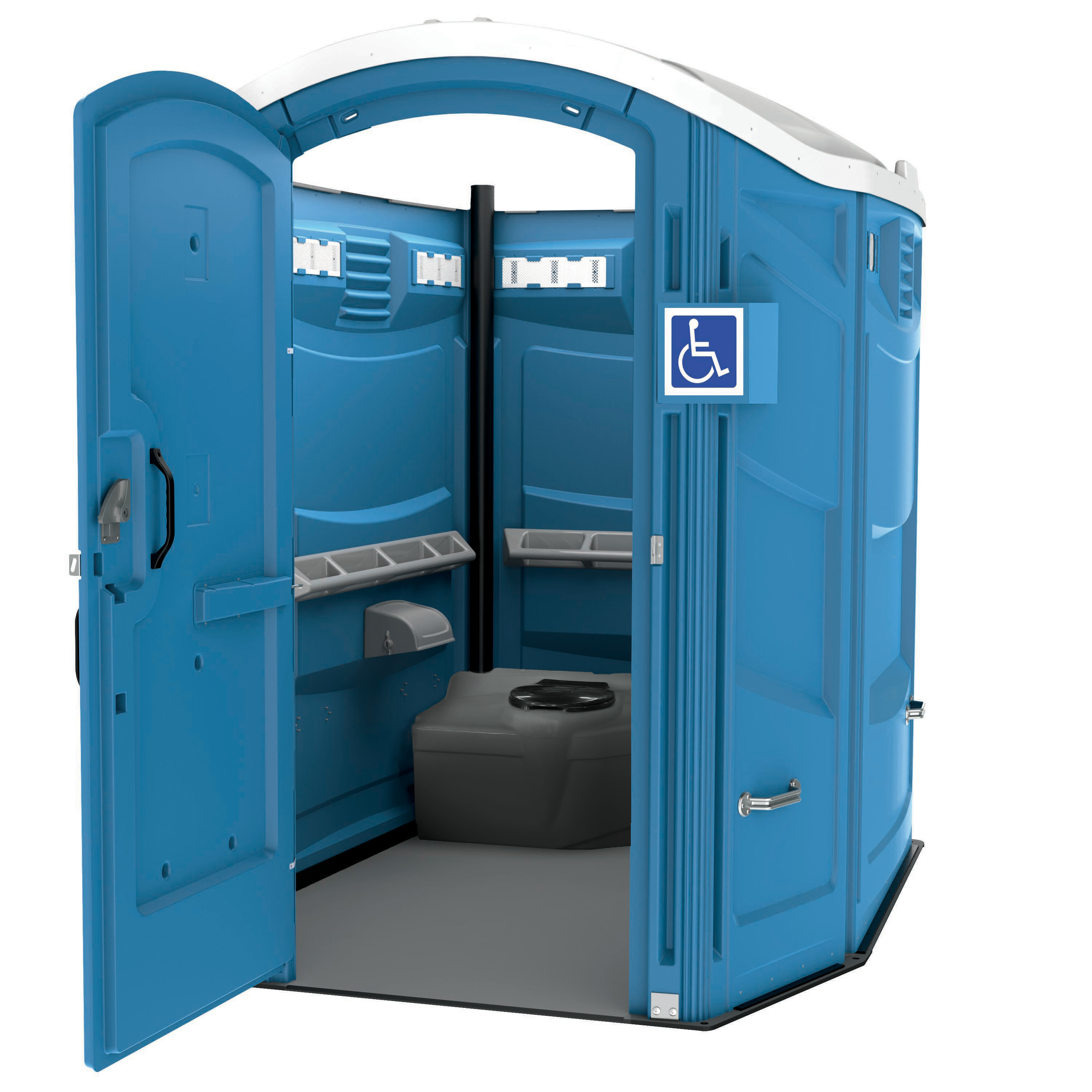 ADA Portable Restroom Interior View
