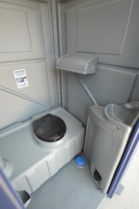 Flush Portable Toilet Interior View
