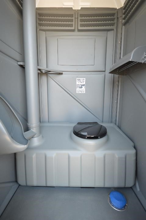 Flushing Porta Potty Interior View