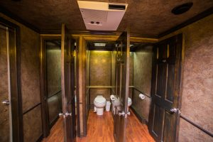 Medium Platinum Restroom Trailer