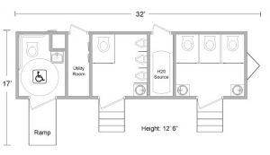 Large ADA Restroom Trailer Floorplan