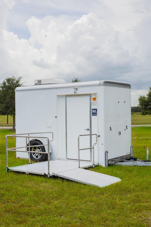 Compact ADA Restroom Trailer Exterior