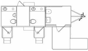 Small ADA Restroom Trailer Floorplan