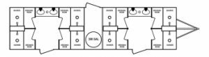 BRR 8 Stall Shower Trailer Floorplan